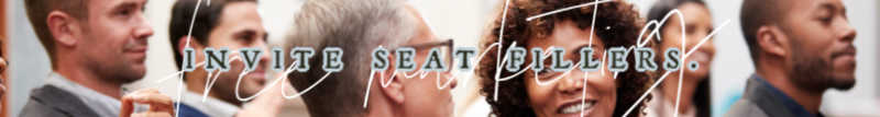 seat filling, local marketing with seat fillers, new ways to market for free, free local marketing ideas