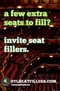 seat filling, seat fillers, event marketing, event promotion, promote events, fill seats